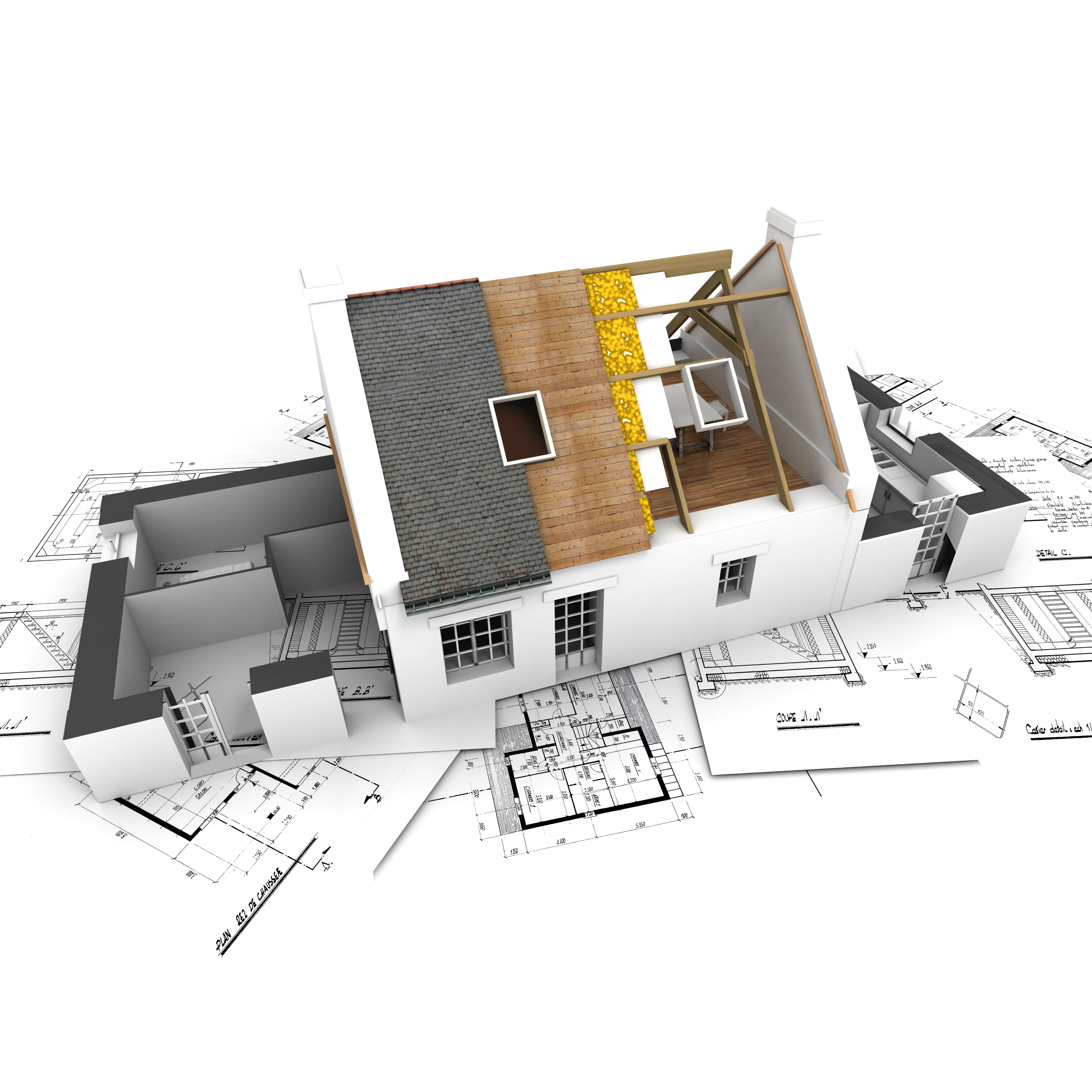 bigstock-House-With-Exposed-Roof-Layers-2602439